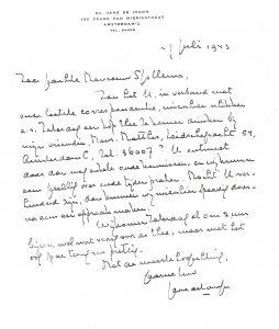 Scan brief Jane de Iongh